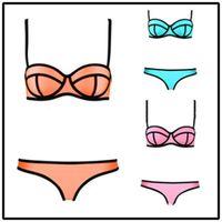 sexy swimwear - Triangle Bikini Swimwear Fashion Women Sexy Swimsuit Neoprene Set Summer Bath Suit Push Up Beachwear DHL Large Factory Price