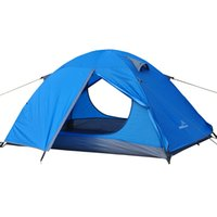 Wholesale Caucasus Brand persons layers high quality tent strong waterproof outdoor camping tents fiberglass poles width cm length cm