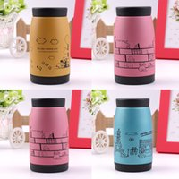 Wholesale 2015 New Popular Stainless steel vacuum cup belly cup portable thermos cup Water Bottle Office Vacuum ml Top Quality