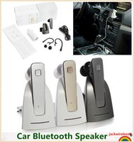 Wholesale 2016 new R6100 Car Bluetooth Headset Wireless Stereo Headphone Microphone with base Charging Dock for all phone