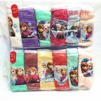 Wholesale Frozen Elsa Anna Underwear Kids Sofia Triangle Briefs Pure Cotton Solid Color Childrens Girls Clothes Child Clothing Cartoon K1965