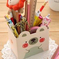 Wholesale C162 South Korean stationery cute mini animal desktop pen holder storage box storage box