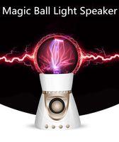 ball floor lamps - Magic Crytal ball Bluetooth speaker Magic Music wireless portable Plasma Ball Fantastic Flashing ball with flash lamp DHL