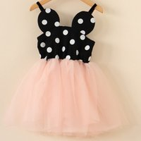 bubbles - Girls Lovely Hot Sale Dresses New Childrens Clothing Baby Girls Fashion Dot Pattern Yarn Bubble Dresses Girls Kids Pretty Mickey Dresses