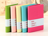 Wholesale Diary Cute Charming Mini Portable Smile Smiley Paper Notebook Memo Note Book Stationery Pocketbook