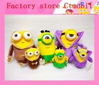 Wholesale 20cm Minion styles toys doll creative official D eyes minion plush toys Despicable Me movie toys gift kids toys factory outlet