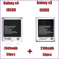 Wholesale For Samsung Galaxy S4 i9500 battery B600BC mAh For Samsung Galaxy S3 i9300 battery EB L1G6LLU mAh