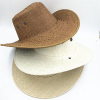 Wholesale American Western outdoor Cowboy hat and cap Hollywood Style Party Costume for travel straw cowboy hat Unisex Beach Sun Straw
