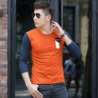agent orange shirt - Micro channel agents burst models new men s long sleeved t shirt Cheap foreign trade especially for men s T shirt men