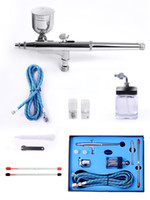 air tattoo guns - Dual Action Airbrush Kit Needle Air Brush Spray gun body painting airbrush Makeup Styling Tools Nail Art Tattoos SP134KTLWG