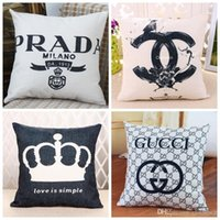Wholesale Home Simplicity Decorative Sofa Cushion Cover Queen Crown Pillow Case Gift Throw Pillows Soft Cushion Covers x45cm