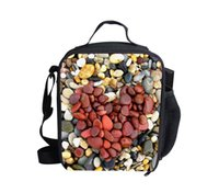 army food container - Fashion Heart Shape D Printing Lunch Bags for Outdoor Picnic Waterproof Thermal Food Container Kids Gift Shoulder Lunchbox
