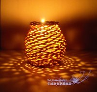 Pen Holders aroma cover - Indonesia rattan pen straw Braid jewelry can rattan aroma tank rustic lamp cover fashion vase