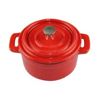 Wholesale Cast iron stew pot mini red casserole mini enamel cast iron pot cm pot