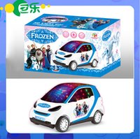 mini electric car toy - Frozen Electric Musical Car Mini Flashing Educational Toys for Children With Music Free EMS