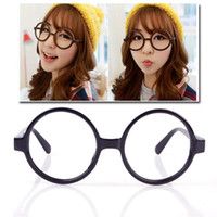 Wholesale New Unisex Fashion Round Frame Party Fancy Dress Big Nerd Eyeglasses Glasses