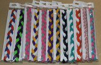 african dance - 100pcs strands Braided mini headband for Yoga run dance workout cheerleader school colors Hair band