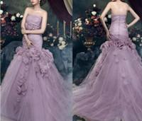 flower dress - Custom Long Mermaid Elegant Tulle Handmade Flowers Bridal Evening Party Formal Prom Dresses Wedding Ball Gown