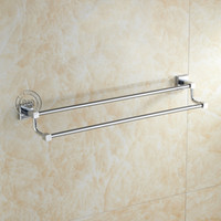 Wholesale B R Luxury Bathroom stainless steel double cm towel holder BR