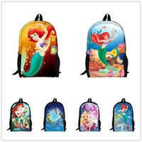 ariel backpack - Hot Princess Children School Bags for Teenagers The Little Mermaid Backpack Girls Schoolbag Cartoon Ariel Bookbag Kids Mochila