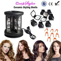 Wholesale New Solid Ceramic Tourmaline Hair Styling Shells Magic Curler Hair Iron Perfect Curling Iron Beauty Roller V V