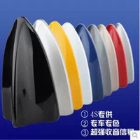 Wholesale New arrival Shark fin Car Roof Shark Fin Decorative Antenna Universal Car Antenna Decoration Aerials White
