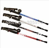 Cheap 10PCS Lot Fedex Free Shipping 3 Sections With Antishock System Trekking pole , Hiking Pole , Nordic walking stick