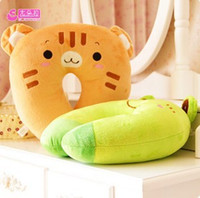 baby bee pillow - PC Lowest Price NEW Cute Hoop Baby Infants Pillows Bee Dog Monkey Shape Car Seat Travel Head Neck Rest Soft Safty Pillow