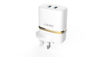 Cheap LDNIO DL-AC52 12W USB Wall Charger 5V 2.4A Travel Home Portable AC USB Charger Adapter For iPhone 5S 5C 5 4S, iPad Air Mini, 5V USB-Charged