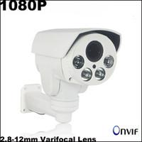 Wholesale HD IP Camera mp mm Varifocal Lens PTZ Camera Night Vision Weatherproof Outdoor Camera Onvif P2P P Security Camera