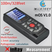 Wholesale Mileseey S3U Prefossion m Laser distance meter Rangefinder Range finder Tape measurer with Multi function Intelligent OS