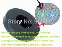 Wholesale 2pcs price mist maker fogger humidifier black body floating ring used for disc head PVC material