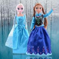 Wholesale 2015 New Sale Dolls Plush Toys cm Princess Elsa Anna Plush Doll Kids Dolls for Girls SV005085
