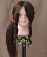 Wholesale Mannequin Dummy Brown Human Hair Training Female Mannequin Head With Hair With Free Clamp