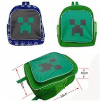 baby creepers - 2015 new baby minecraft bag creeper minecraft school bags Backpacks kids school bags children bag shoulder pu