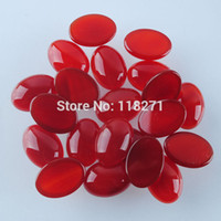 agate cabs lots - x18MM Red Agate Gem Oval Cabochon CAB Jewelry PN735