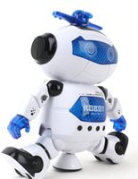 Wholesale Latest dance electric toy space robot rotation explosion models selling children s toys