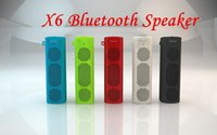 audio options - X6 Bluetooth Wireless Portable Speaker X6 sport outdoor bluetooth speaker multi colored radio function options for iPhone iPod iPad Samsung