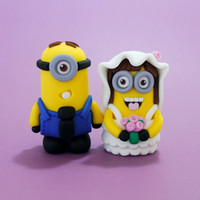 cake decoration cake - Dispicable Me Minions Wedding Cake Topper Mrs Mrs Wedding Topper Figurine Sculpture Wedding Decorations Party Supplies Cake Toppers
