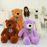 Wholesale 6 FEET TEDDY BEAR STUFFED LIGHT BROWN GIANT JUMBO quot size cm birthday gift