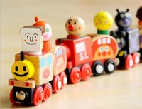 Wholesale wooden toy cars vans magnetic small train magnetic bread superman educational toys