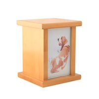 pet urns - Dog Urn Wood Pet Cremation Urns