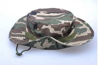 golf bucket hat - Military Bucket Hat Summer Sun Camo Hats Boonie Snap Brim Fishing Caps