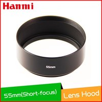 Wholesale Hanmi New Universal mm Metal Hard Black Lens Hood Shade Screw Mount for Digital Camera Canon Nikon Sony