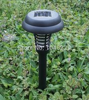 Wholesale 10pcs free fedex Garden Yard Bug Pest Insect Mosquito Killer Solar LED UV Light Lamp