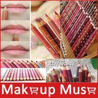 Wholesale 12Pcs set Per Set Brand New Women s Professional Lipliner Waterproof Lip Liner Pencil CM Colors