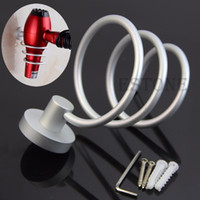 Wholesale Spiral Blow Hair Dryer Stand Flat Holder Wall Mounted Hang Holder Organizer order lt no track