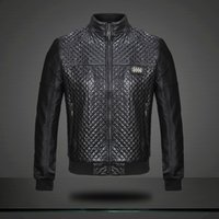 acrylic leather paint - 2016 winter motorcycle leather clothing men s PU leather jacket Brand men autumn water wash leather coat mans jackets