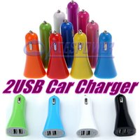 apple car adaptor - Car Chargers A Dual USB Port Adaptor Car Charger For IPhone Samsung S7 Ipod New Automobiles Car styling Dual Port