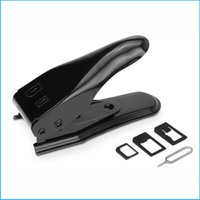 Wholesale High Quality Dual in Micro Sim Cutter for iPhone S I5 S Nano SIM Card SIM Adapter for Samsung Galaxy Regular Sim